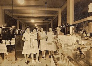 Waitresses in the 1940